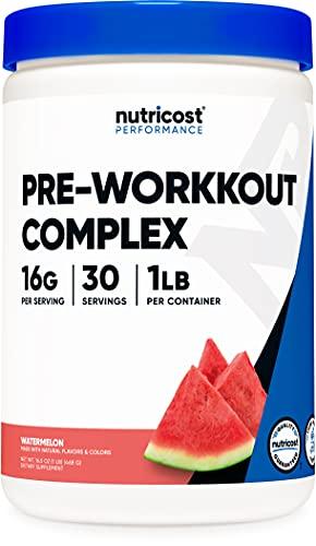 Nutricost Pre-Workout Complex Powder Watermelon (30 Serv)