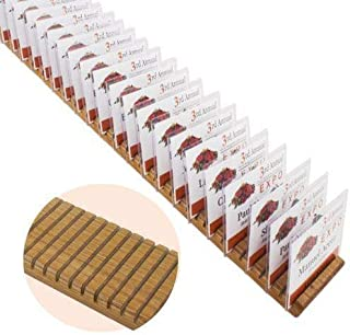Name Badge Productions - 24 (L) x 3 1/2 (W) x 3/4 (H) Inch Wooden Badge Holder - 47 Badges - Oak Finish - One Per Package