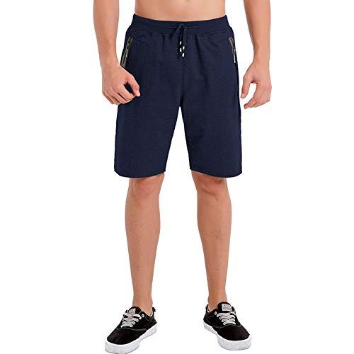 Umelar  Herren Shorts Sport Shorts Herren Kurze Hose Herren Shorts Fitness Kurze Hose Jogging Hose Cotton Herren Short Herren, M, Dunkel Blau