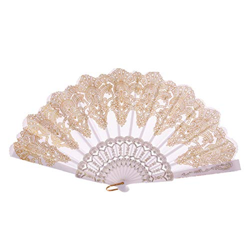 Jeeke Classical Dance Craft Fan Folding Hand Rave Fan Chinese Traditional Hollow Fan Wooden Hand Made Exquisite Folding Wedding Gift