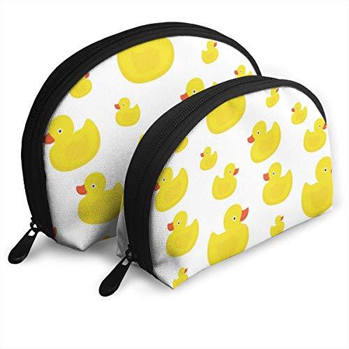 XCNGG Nette gelbe Enten Aufbewahrungstasche Geldbörse Kosmetische Reise Aufbewahrungstasche Eine große und eine kleine 2-teilige Schreibwaren Bleistift Multifunktions-Tasche Kinder Brieftasche Schlüss