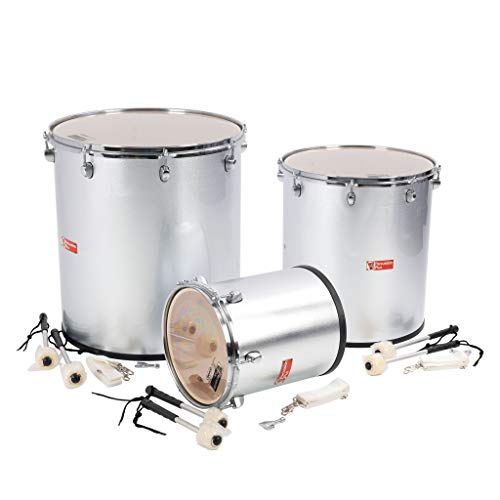 Percussion Plus pp780 Samba drums en plata mate acabado (