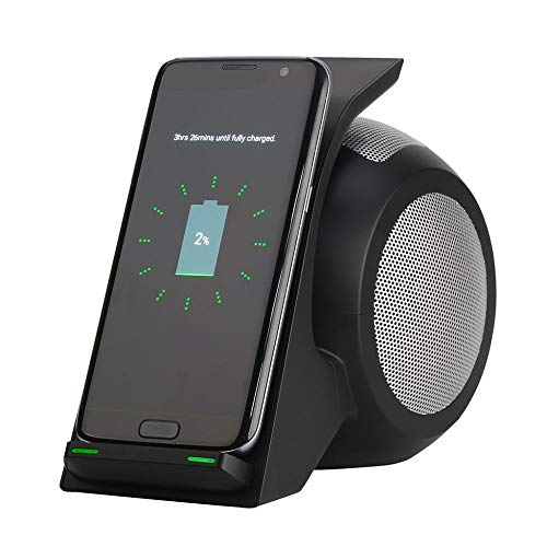 Multi Portable Fast Charger Bluetooth Speaker Stereo Bass Wireless Charging Stand PowerBank for Loudspeaker Outdoor Speaker, A