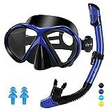 Glymnis Gafas de Buceo Gafas Snorkel Seco Completo Kit de Snorkel Máscara...