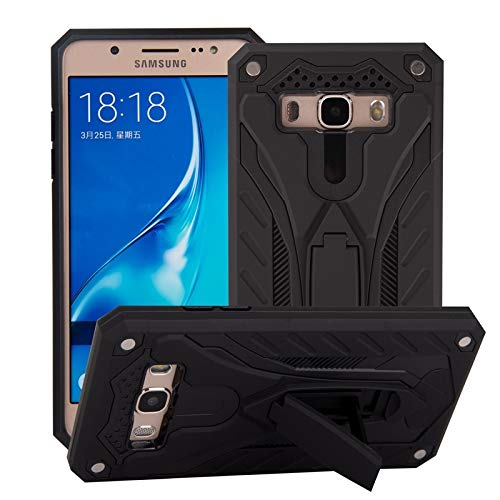 MAXJCN Caja del teléfono Compatible con Samsung Galaxy J7 (2016) J710, a Prueba de Golpes de Doble Capa 2-en-1 Caso del Soporte de la Armadura de PC + TPU Protector Duro, Durable de Moda.