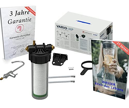 Wasserfilter Untertisch Set Carbonit Vario HP Classic | mit Garantieverlängerung | NFP Premium Trinkwasserfilter entfernt Schadstoffe, Schwermetalle | Made in Germany
