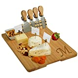 Picnic at Ascot Personalized Monogrammed Engraved Hardwood Cutting Board for Cheese & Charcuterie-...
