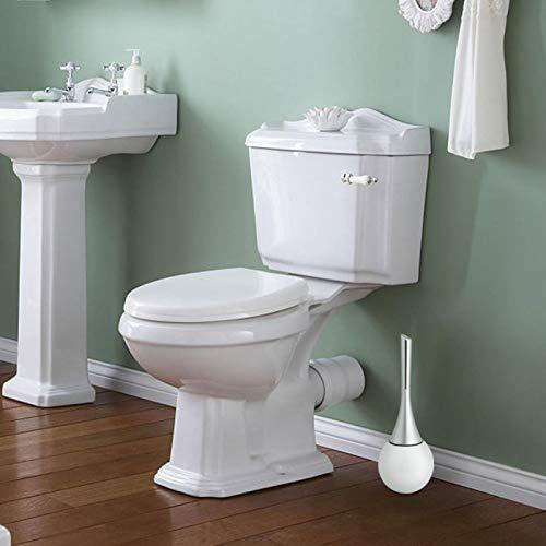 SUCIE Bathroom Toilet Brush, High Grade Toilet Brush Generous for Cleaning Brush for Bathroom for Cleaning Tool for Toilet(White Base, White)