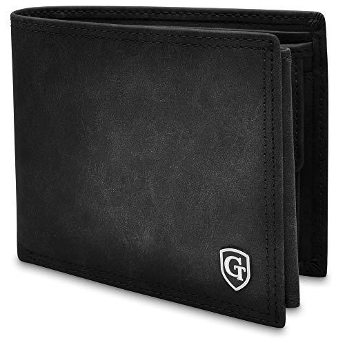 Brooklyn Große Geldbörse mit Münzfach - TÜV geprüfter RFID, NFC Schutz - geräumiges Portemonnaie - Geldbeutel für Herren und Damen - Portmonaise inkl. Geschenkbox (Schwarz - Soft)