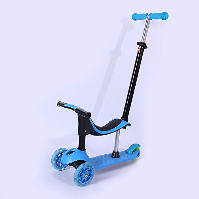 Scooter per Bambini, Scooter per Bambini 4 in 1 Regolabile con uomoiglia Scooter Multidivertimentozionale Adatto a Bambini di età Compresa tra 2 e 8 Anni blu
