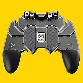 وحدة تحكم 3 في 1 للعبة ببجي على الهواتف بزر اطلاق نار L1R1 لاجهزة اندرويد و اي او اس بلون اسود