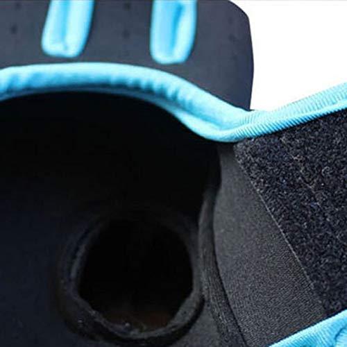 lumanuby 1Paar Damen Herren 's Gym Handschuhe, Half Finger Handschuhe semi-breathable Verschleißfest Rutschfest Fitness Handschuhe für Outdoor Ausreit Klettern atmungsaktives Sport Handschuhe Workout Training, Blue M, 18-21CM - 8