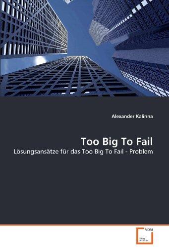 Too Big To Fail: Lösungsansätze für das Too Big To Fail - Problem