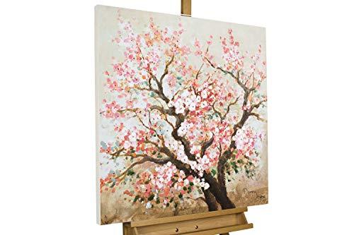 KunstLoft® Acryl Gemälde 'Heiteres Hanami' 80x80cm handgemalt Leinwand Bild