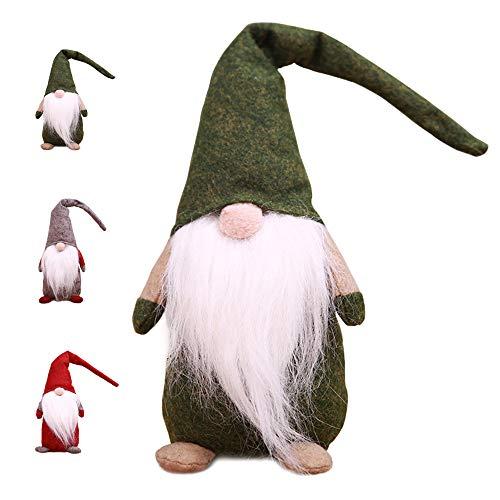 Weihnachtswichtel Kantenhocker Wichtel Figuren Weihnachten Weihnachtsdeko Plüsch Handgemachte Geschenke Urlaub Dekorationen (Grün)