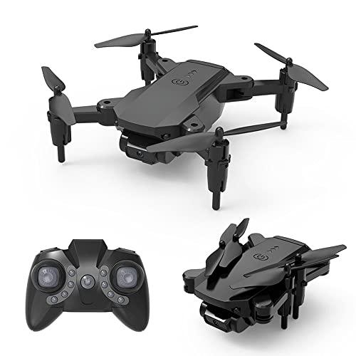 NONGLAN Drone 4k HD Dual Fotocamera con WiFi Tiny Dron Pieghevole Quadcopter Rc Helicopter Profesional Mini Plane Toys per Ragazzi(Color:Nero)