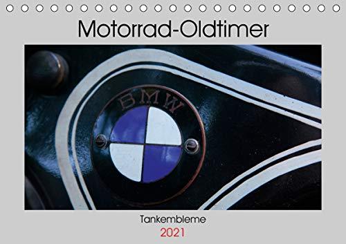 Motorrad Oldtimer - Tankembleme (Tischkalender 2021 DIN A5 quer)