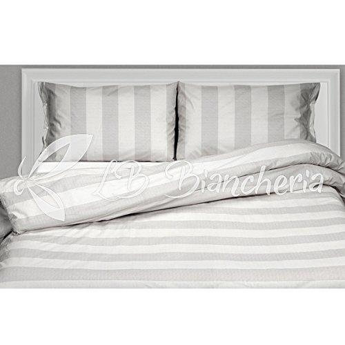 R.P. Hoeslaken, Franse afmetingen, 140 x 200 cm, Ikea gestreept, grijs