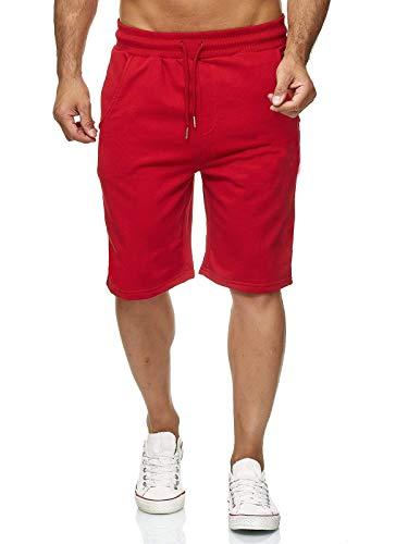 Hidyliu Mens Elastic Waist Drawstring Workout Joggers Shorts Summer Casual Sweat Short Pants with Pockets (Red Joggers Shorts, XL)