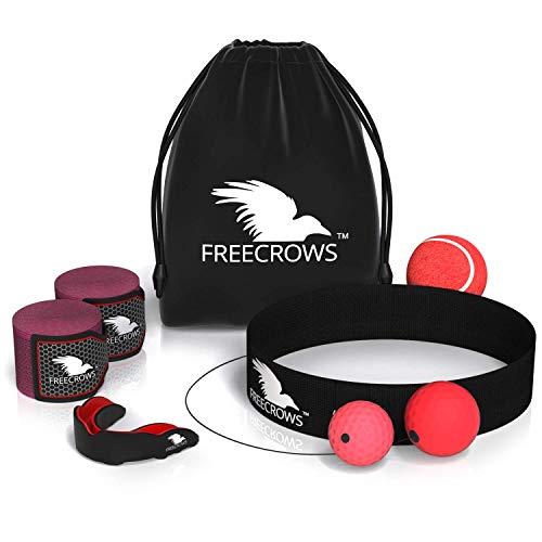 Freecrows Reflexball - MMA Handbandagen - MMA Mundschutz - 3 Stück