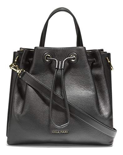 Cole Haan Leather Bucket Bag, Black