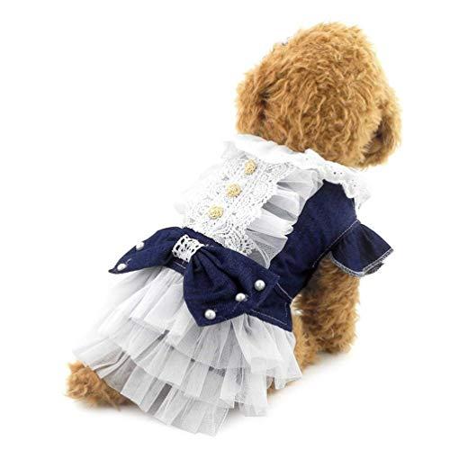 LLYU kleding voor huisdieren, rok, kleine kleding, kleding voor huisdieren, mooie prinsessenjurk, L