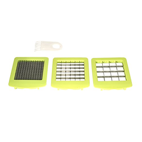 QuickPush Food Chopper (BR-QP-02): Replacement Set of 3 Blades and 1 Cleaning Brush