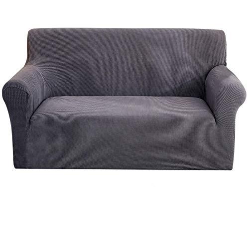 Jacquard Elastic Stretch Sofa Cubierta Spandex Cubiertas de sofá Lisos para 1/2/3/4 Seaver Sofás universales Sofas SECCIONARIO LIBUALIZACIÓN DE LA Cubierta (Color: Negro, Especificación: Cubierta del