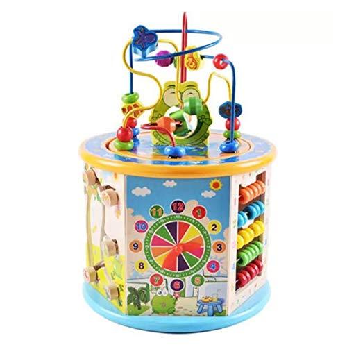 JINSUO 8 en 1 Baby Ocupado Board Montessori Juguete para niños Educación Temprana Cubo Centro Juguetes Cognitivo Color Niños Desarrollar Regalo (Color: Sin caja)