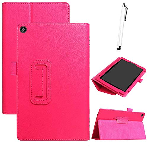 sunnymi For Amazon Kindle Fire HD 8 2018 8th Gen Ultra Slim Slim Fit Corner Protection PU+Leather Case Cover Stand (E)