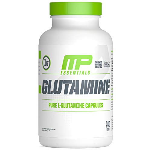 MusclePharm Essentials Glutamine Capsules, 1000mg Capsules, 120 Servings