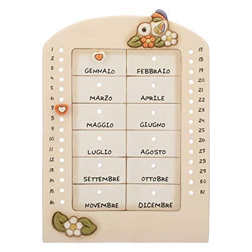 THUN - Calendario Perpetuo da Parete - Linea Country - Ceramica - 21,5 x 30,5 cm