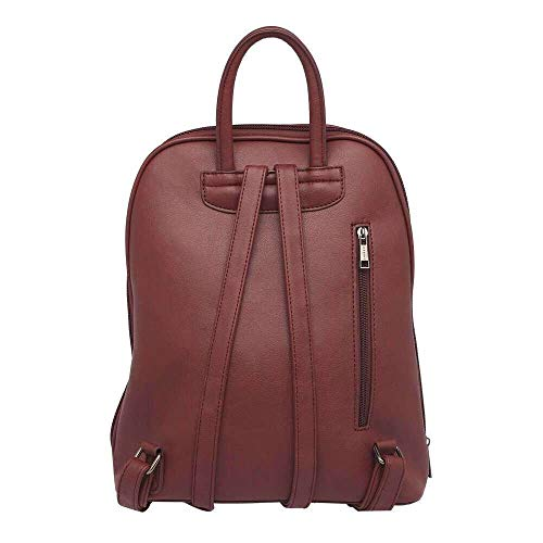 Caprese Womens 1 Compartment Zip Closure Backpack (Plum_Free Size)