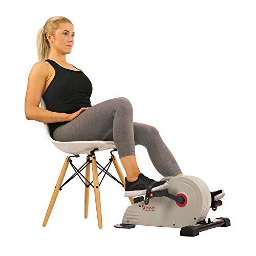 Sunny Health & Fitness Under Desk Bike Pedal Exerciser, Desk Elliptical Mini Bike - SF-B0891 , Gray by Sunny Health & Fitness