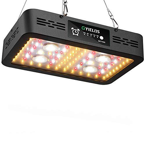 Luz LED para Cultivo De Plantas De 1200 W, con Termómetro, Monitor De Humedad, con Cuerda Ajustable, Luz De Planta De Doble Interruptor De Espectro Completo para Plantas De Interior