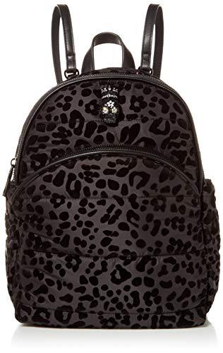 Betsey Johnson Women's Pretty Puffer Midi Backpack, Black, 9' L x 3.75' D x 11' H