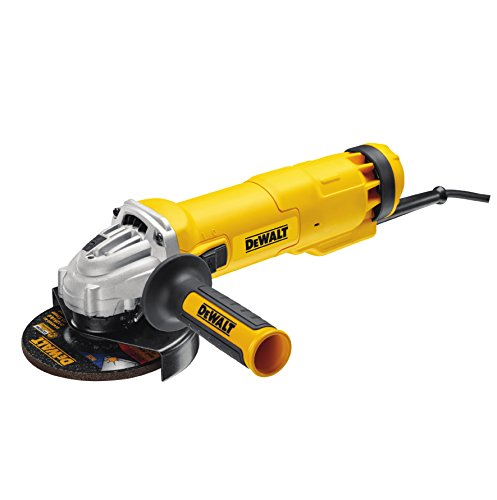 Dewalt DWE4207-QS DWE4207-QS-Mini-amoladora 125mm 1.010W 11.000 RPM Suave + Bloqueo y re-Arranque, 1010 W, 230 V, Negro Y Amarillo