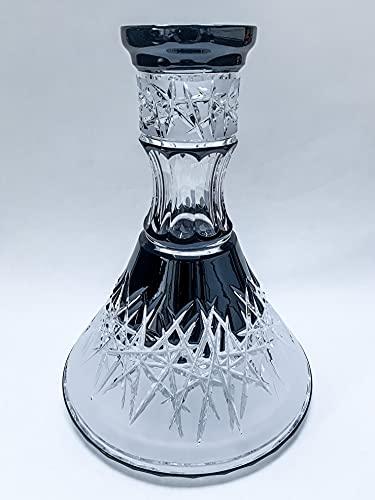 Caesar Crystal Bohemiae Hoarfrost Down - Vaso para shisha, color negro