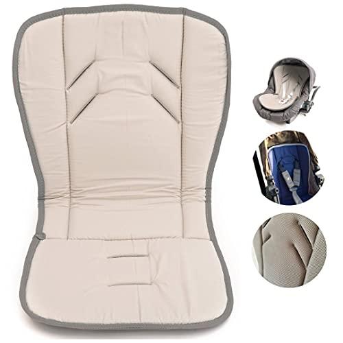 Babycangaroo Sitzverkleinerer für Kinderwagen, Babyschale, Sitzauflage für Autokindersitz, Hochstuhl, Pappe, universell, atmungsaktiv, Baumwolle (Grau Sylver)
