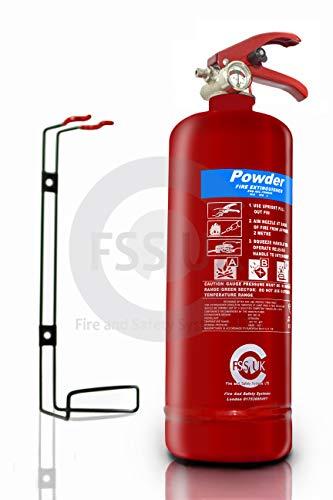 FSS UK - Estintori a polvere ABC, 2 kg, ottima qualità. Marchio CE. Ideali per case, cucine, posti di lavoro, uffici, auto, furgoni, magazzini, garage, hotel e ristoranti