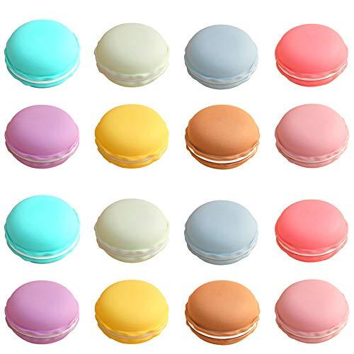 Rocutus 16 piezas Macaron Case, Candy Color Mini Macaron Box, Macaron Jewelry Box, Macaron Cute Pill Box, Macaron Jewelry Storage Box, Cute Pill Organizador Case
