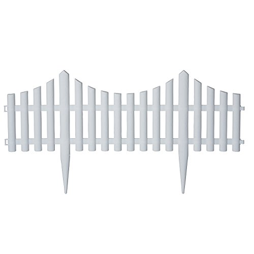 "Emsco Group 2140 Decorative Picket Fencing - Purchase Multiple Pieces to Create Desired Length, 24"" L x 9"" H"
