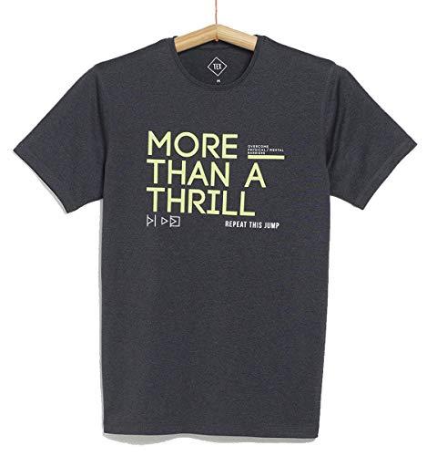 TEX - Camiseta Deportiva para Hombre, Gris Oscuro, XXXL