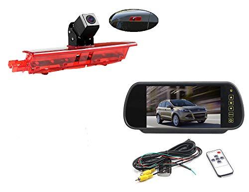Vision de Nuit la Vue arrière imperméables IR Renforts troisième Frein lumière caméra pour VW Caddy 2003-2015 + 7 Pouces HD inverser rétroviseur surveiller