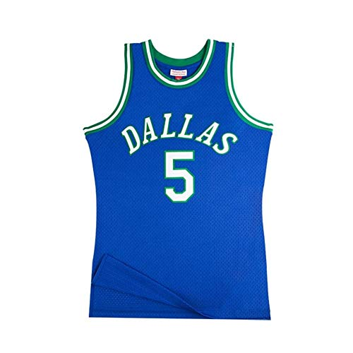 Camiseta Baloncesto Jersey NBA Masculino Frederick Kidd # 5, Transpirable Resistente Al Desgaste Sudadera Bordada Camiseta + Pantalón Corto, XS-XXL, FHI120IHF (Color : Blue, Size : XXL)