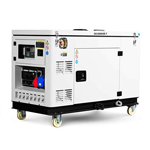 HIOD Stromerzeuger Notstromaggregat Stromaggregat Stromgenerator 10kw Dieselgeneratoren, 11,4 kva, Kommerziell Notfallgenerator mit Wasserkühlen,1-Phase