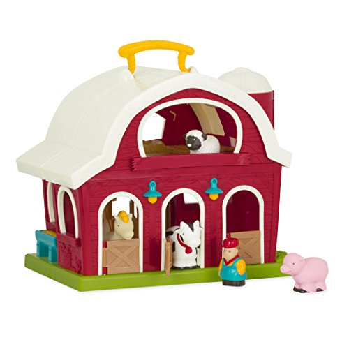 Battat – Big Red Barn – Animal Farm Playset for Toddlers 18M+ (6Piece), Dark...