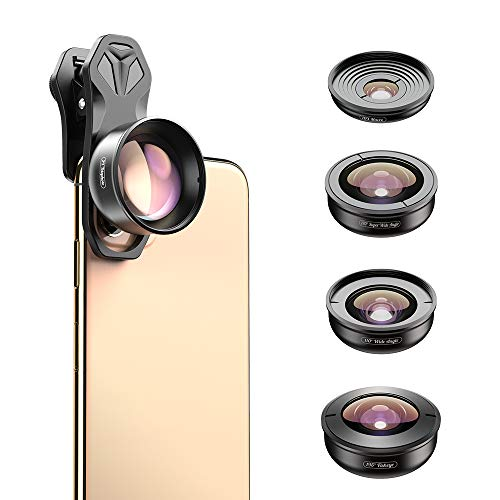 Apexel HD Mobile Phone Camera Phone Lens Set - 10x Macro Lens, 2X Telephoto Lens,...