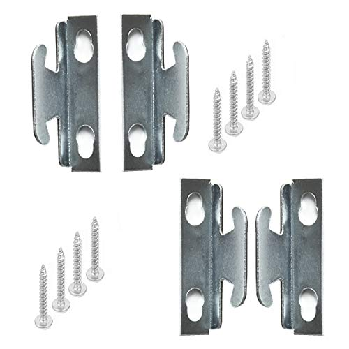 APUXON Curtain Rod Bracket 4pcs Curtain Hook Accessories Middle Support Curtain Rod Bracket Silver Color