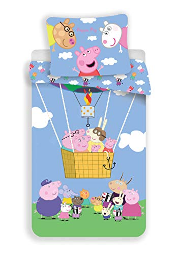 JFabrics Peppa Pig Kinderbeddengoed Ballon 140x200 cm